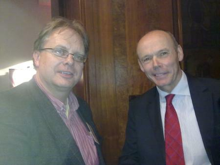Trefor Davies with Sir Clive Woodward