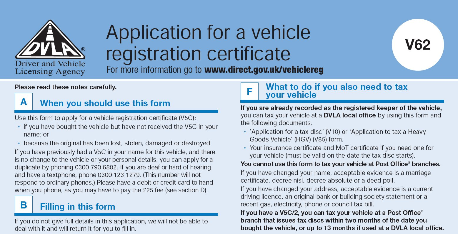 lost vehicle registration certificate #digitalbritain - trefor net