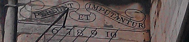 """sundial on Lincoln Cathedral's South Face represents the """"old order"""""""