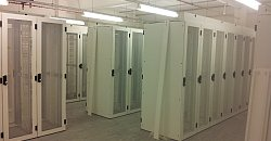 racks in the new Timico data centre