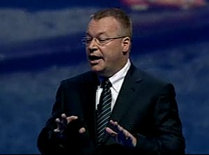 Nokia CEO Stephen Elop launches Lumia smart phones at Nokia World