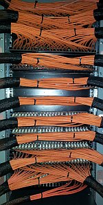 tidy cabling at the new Timico data centre in Newark