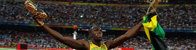 Usain Bolt - he didn't let us down :)