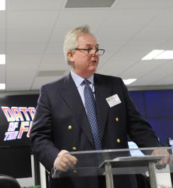 Timico Chairman Tim Radford makes a few opening remarks at opening of Newark datacentre