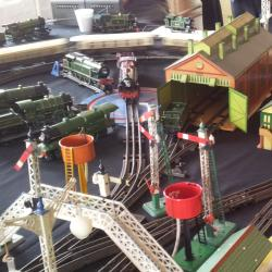 Meccano train set layout