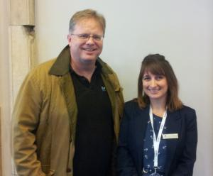 Trefor Davies with Doubletree Sales and Marketing Manager Nicola Shepheard at #LUL360