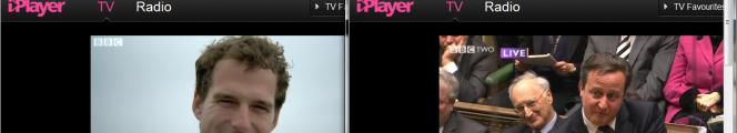 iPlayer screenshots using 4G - multiple simultaneous streams