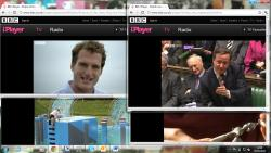 multiple iPlayer streams on a single screenshot using O2 4g