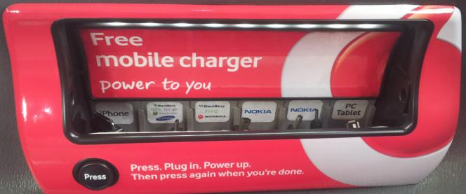 Vodafone in taxi charger