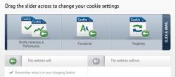BT cookies slider - allows you to customise which cookies are used during your visit
