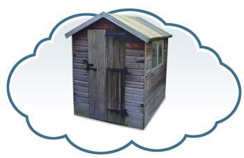 My web based garden shed (shed photo courtesy Wikipedia)