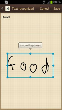 Galaxy S3 S Memo - very handy for taking quick notes