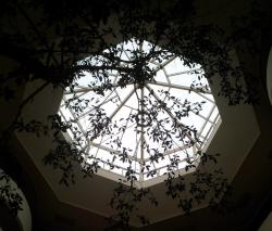 the roof of the atrium at the Celtic Manor Resort Hotel
