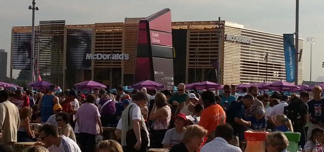 get yer Big Macs 'ere - worlds biggest McDonalds restaurant at the Olympic Park