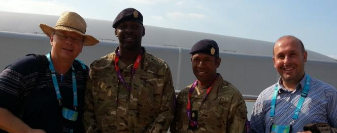 off duty soldiers at the Olympic Games