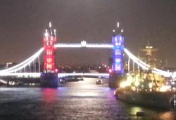 light show at Tower Bridge