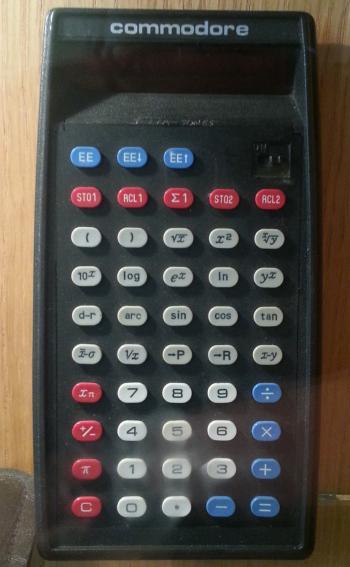commodore calculator on display at TNMOC