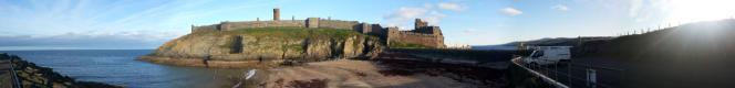 peel castle from fenella beach car park