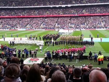 england and fiji teams line up