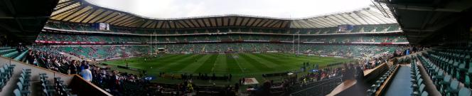 The view from the Royal Box at Twickenham