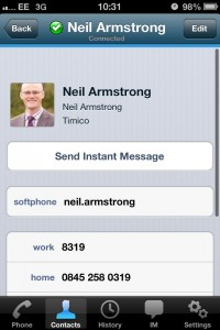 Timico VoIP phone app for iPhone available from Apple App Store 6