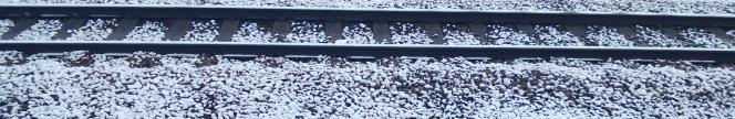 snow on railway lines taken with Nokia Lumia 920