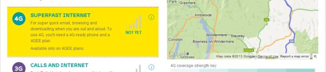 EE 4G availability in Cumbria