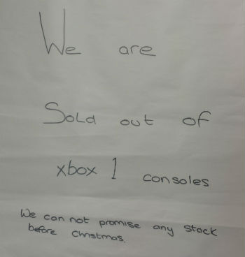 xbox1 console sold out