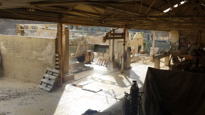 cutting room at the CDS quarry Metheringham Heath