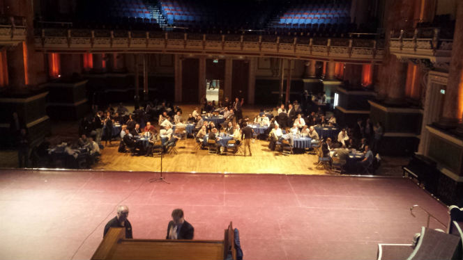 dinner at leeds town hall