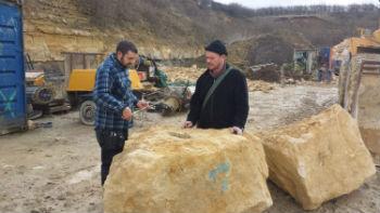 measuring rock for Eleanor Cross