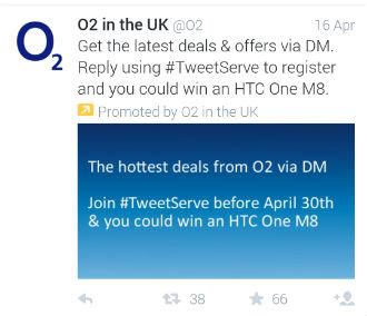 o2 deal promoted tweet