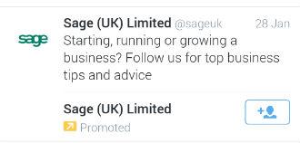 sage promoted tweet