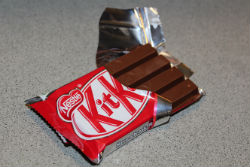 part opened kitkat