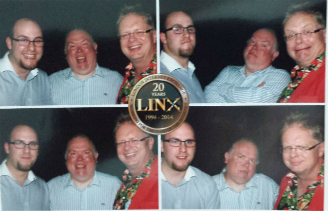 photo booth at LINX85 - 20th birthday celebration