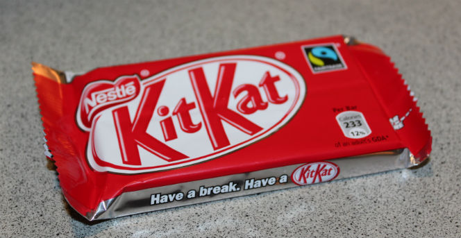 wrapped kitkat