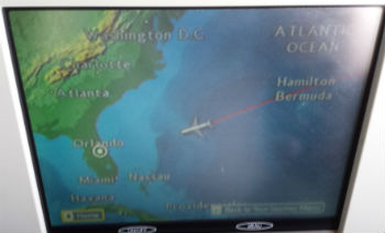 flight map en route to orlando