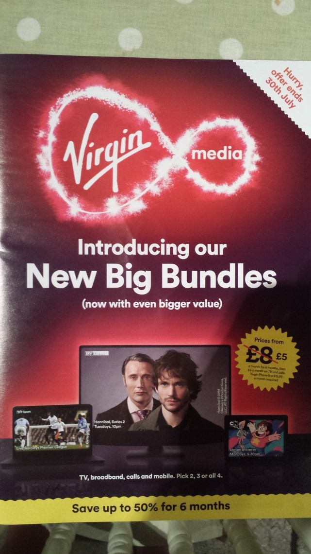 Virgin broadband spam aka junk mail