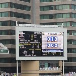 scoreboard at Trent Bridge