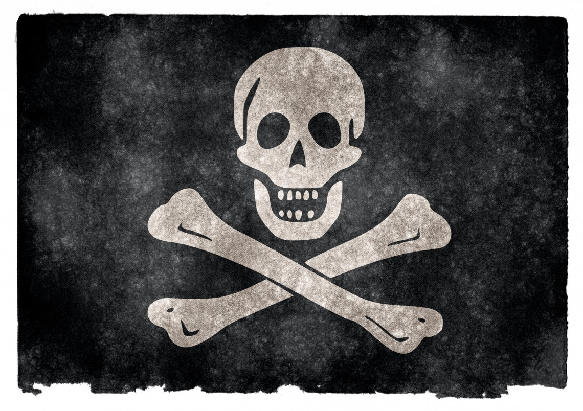 skull & crossbones - broadband internet copyright infringement
