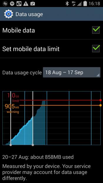 holiday mobile data usage