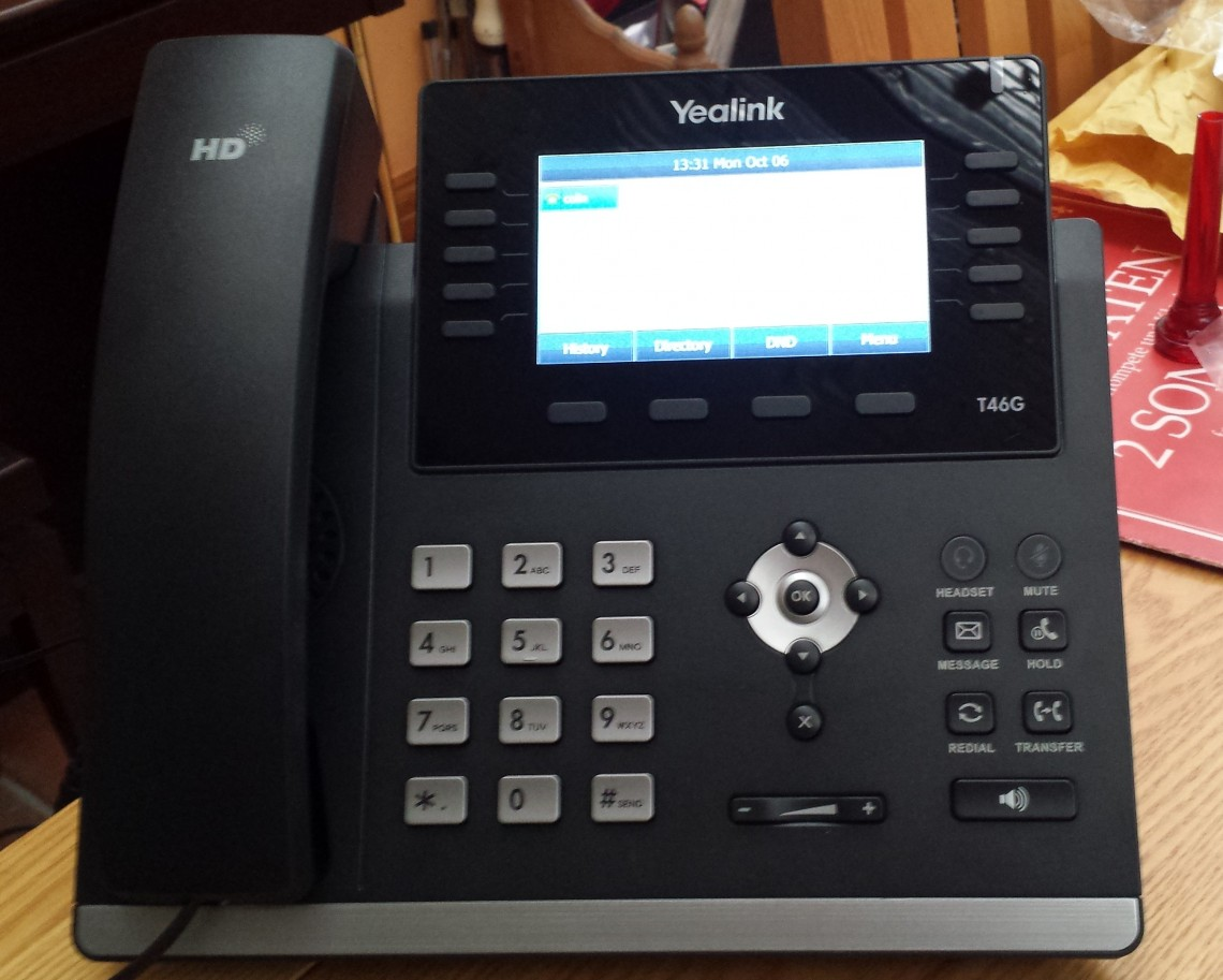 Yealink T46G small business voip setup