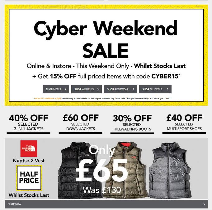 blacks cyber weekend deals