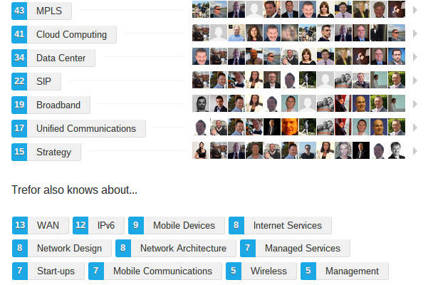 trefor davies linkedin endorsements