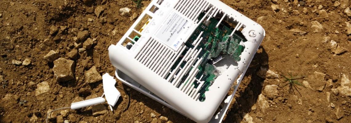 broken router