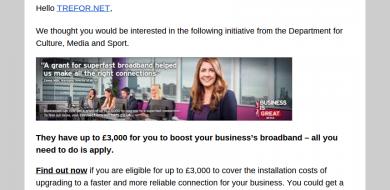 Superfast broadband Connection Vouchers
