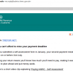 hmrc scam spam