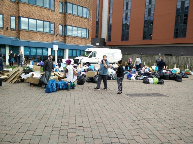 aid donations at Lincoln Brayford Wharf
