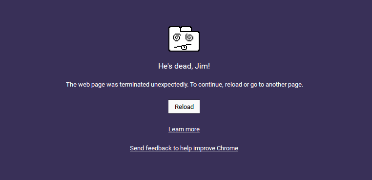 he's dead jim chrome
