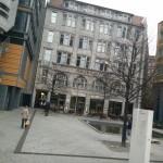 bomb survivor near sony centre in berlin